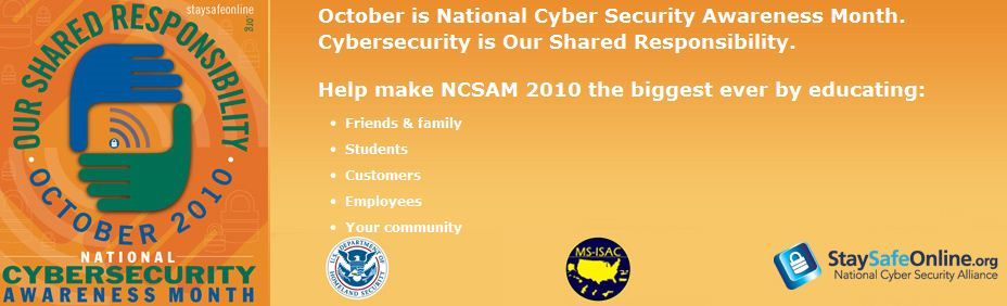 National Cyber Security Month Banner